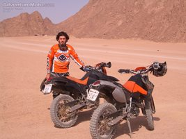 A RIDE IN THE DESERT - THERE IS A KTM OFF ROAD SCHOOL IN SHARM . IT IS WORT...